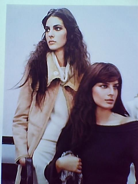 Please ID these 2  fashion models on Mango catalog 2003