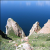 Famous rocks at the lake Baikal